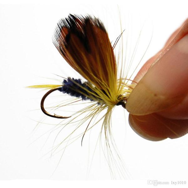 50 комплектов нахлыстом приманки моделирование мух приманки набор сухих / мокрых мух рыболовные снасти перо приманки Карп Рыбалка приманки