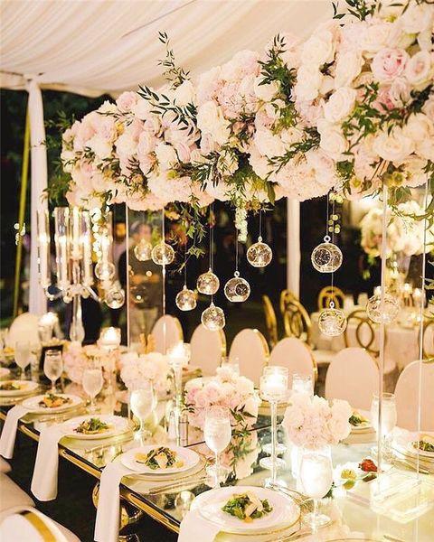 best selling 6cm 8CM 10cm Big Terrarium Borosilicate Hanging Glass Flower Vase Round Tabletop Vases Home Decor Wedding Decoration Transparent