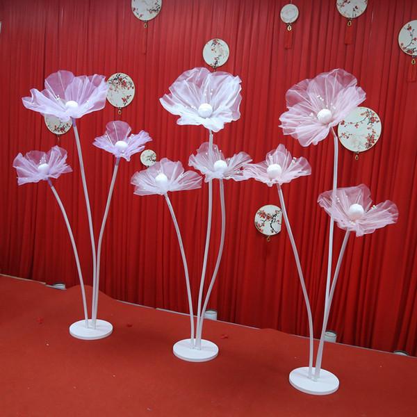 Artificial flower pole Wedding road lead silk flower Party wedding creative decoration beauty stereo yarn flower stage window decorative