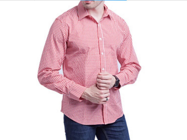 3290a62de4a8a 2019 a estrenar venta caliente de los hombres de tela escocesa de manga  larga camisa casual chaqueta de polos de fondo capa S-2XL 4 envío libre del  color