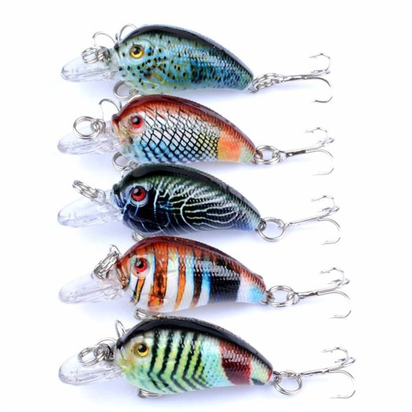 5pcs/lot Crankbaits Fishing Lures Wobblers Crank Hard Baits Painting Series for Fishing Topwater Artificial Bass Pesca Lure 4.2g 4.5cm