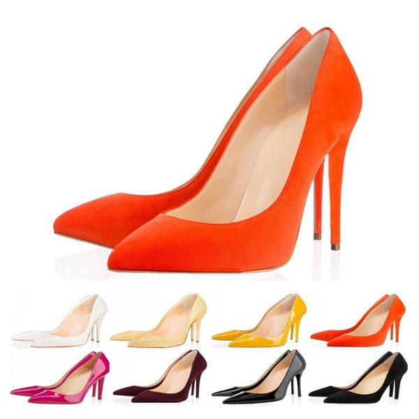 Designer Shoes sneaker So Kate Styles High Heels Shoes Red Bottoms Luxury 8CM 10CM 12CM Genuine Leather Point Toe Pumps Rubber size 35-42