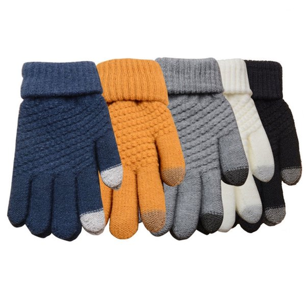 Mens Women Thermal Knitted Gloves Mittens Female Insulation Touch Screen Winter Warm Gloves Glove New Woolen