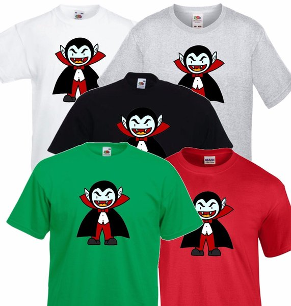 Evil Cartoon Vampire, Dracula, Halloween Party T shirt Men Ladies size discout 100% Cotton hot new tshirt