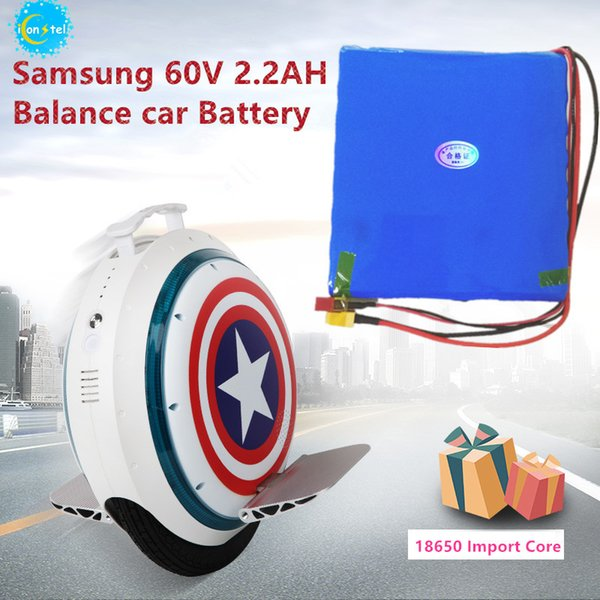 ICL Manufactor for Korea Samsung 18650 60V 2200mAH 132Wh Balance car Battery pack Self carlectric unicycle 2.2AH power battery