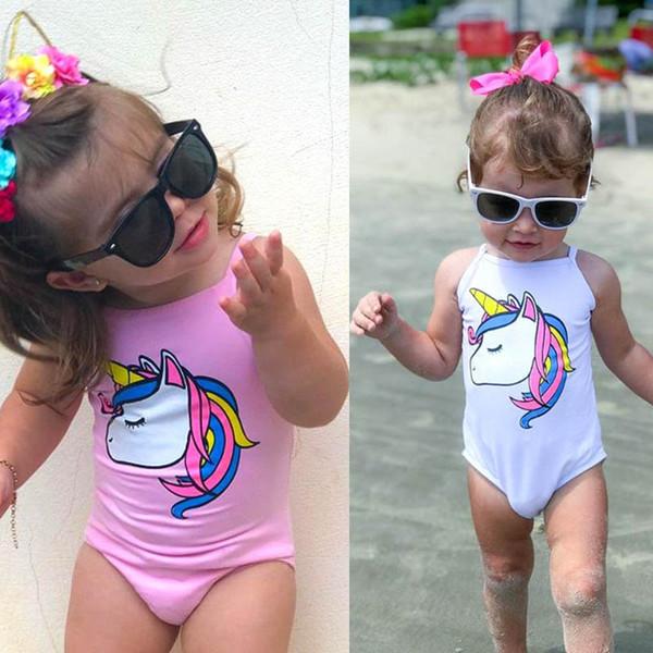 2 Stilleri Bebek Mayo 2019 Karikatür Unicorn Mayo Tek Parça Mayo 0-3 Yaşında Bebek Kız Fit Mayo Beachwear C21