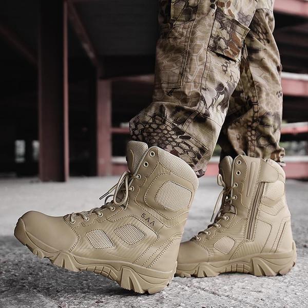 Bottes Neige D'hiver Bottes Bottes Cuir Tactique Cheville En Special Hommes En Armée Desert Hommes De Militaire Cuir Chaussures Acheter Force Combat nwZNOPk80X
