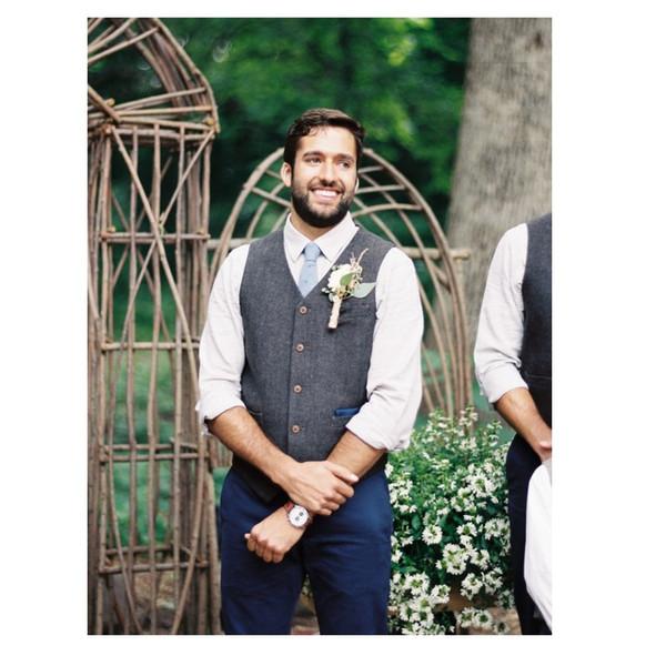 Gris laine laine tweed gilets gilet formelle porter costume gilet hommes britannique style smoking smoking gilet plus la taille