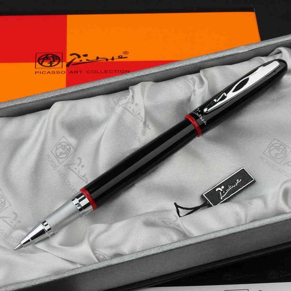 Picasso 907 noir et argent international standard Rollerball Pen Livraison gratuite Pen écriture