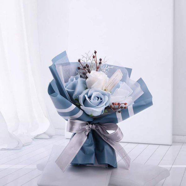 romantic valentine's day gifts soap flower beautiful artificial roses bouquet anniversary gifts for wife mother