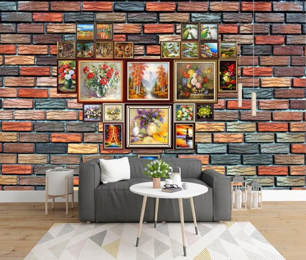 Brick Wall Paper Mural Art Wallpaper Wall Mural Photo Papers Roll Contact Paper Home Improvement Canvas Cover