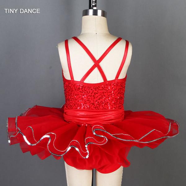 7e1be5f2a Compre Vestido De Lentejuelas De Doble Correa Para Niñas Ballet Danza Tutu  Jazz Disfraz Trajes De Rendimiento Para Niños Tamaño XS A XXL 19807 A ...