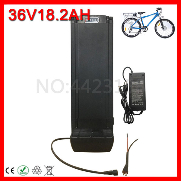 36V 1000W 500W 350W Ebike Battery 36V 18AH Rear Rack lithium ion Battery 36V Electric Bicycle Battery With luggage Rack.