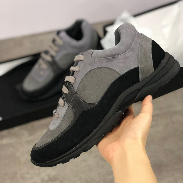 2019 luxe sneaker nylon daim cuir de veau G34360 designer chaussures piste clair PVC transparent baskets femme mens Casual Shoes Runners chaussures