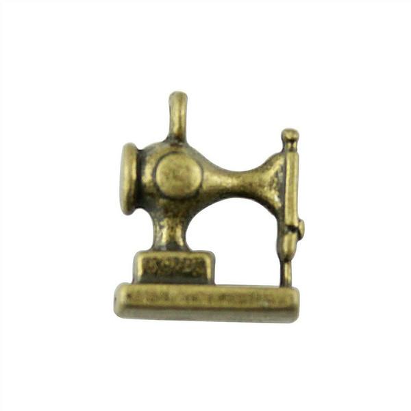 50 stücke Charme Nähmaschine Nähmaschine Anhänger Für Schmuck Machen Antike Bronze Farbe 3D Nähmaschine Charme 12x15mm