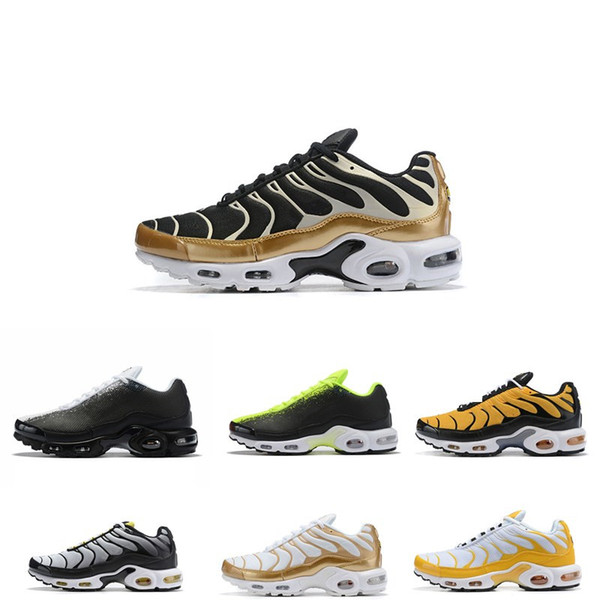 Best Running Shoes 2020.2020 Best Sale Plus Tn Ultra Se Men Running Shoes Green Mercurial Sliver Gold Orange Sneakers Breathable Athletic Sneakers Menairmaxshoes Best Running