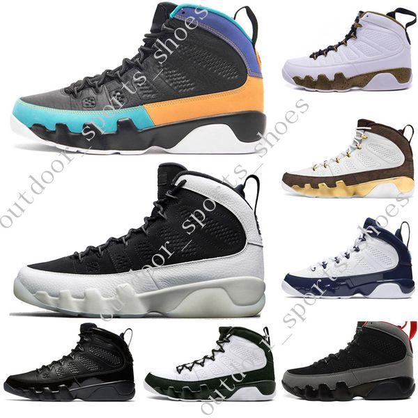 Hot 9 9s Dream It Do It UNC Mop Melo Hommes Chaussures de Basketball LA OG Space Jam hommes Bred All Black The Spirit sport baskets designer taille 7-13