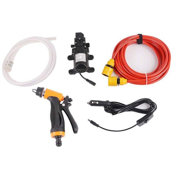 12V Pompa dell'acqua per auto Lavatrice Pompa autoadescante Pompa dell'acqua spray Kit di utensili per lavatrice elettrica Auto ad alta pressione