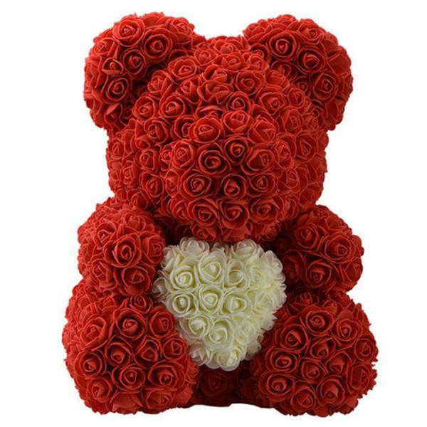 40cm coeur rouge