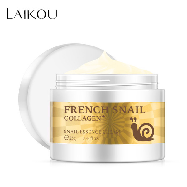 Snail face cream hyaluronic acid moi turizer nouri hing collagen nail erum day cream kin care product tool, White