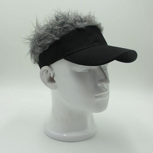 2018 Novelty Ladies Baseball Cap Fake Flair Hair Male Sun Visor Hats Men Women's Toupee Wig Funny Hair Loss Cool Gifts Golf Cap