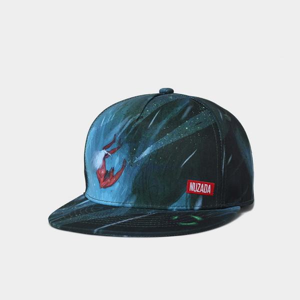 Gorra de béisbol con estampado de lona de algodón en 3D Cuervo, Unisex Hip Hop Snapback Sombreros Flatbrim Tamaño de gorra ajustable 16 Estilos de diseño