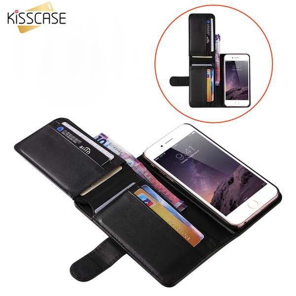 wholesale Business Wallet Leather Case For iPhone 6 7 6S Plus 5 5S SE Samsung S8 S8 Plus S6 S7 Edge Folding Card Slot Cover Case