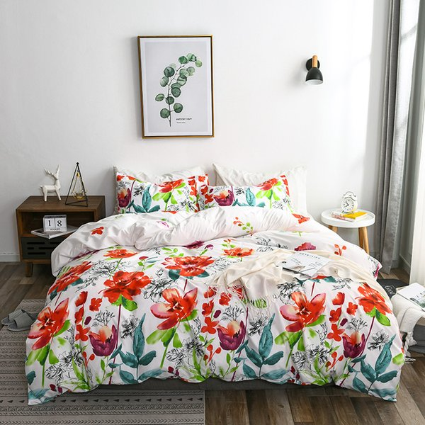 Home Textile Unicorn Duvet Cover Countryside Wild Flower Floral Natural Print Classic Designer Bedding Set Bedroom Bed Linen