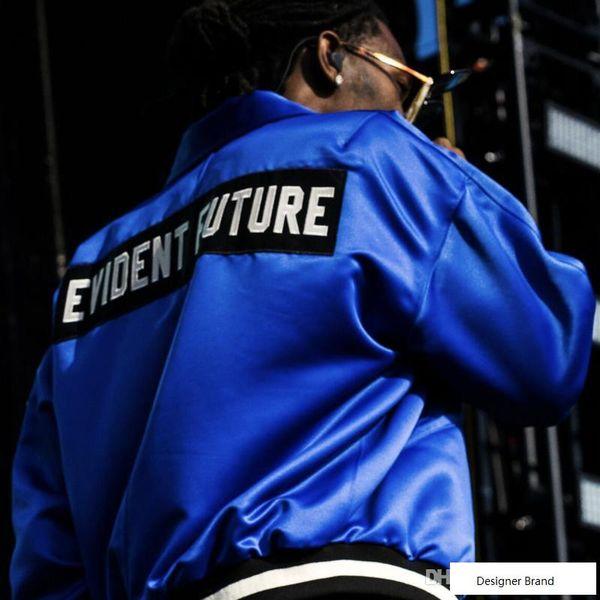 Furcht vor Gott FÜNFTE MANUEL NEBEL Schwarz Blau Satin Jacke Männer Frauen Mode Mäntel Baseball Jacke Hip Hop Oberbekleidung HighStreet HFLSJK037