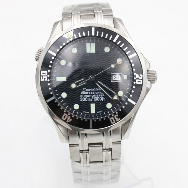 Watch Men Omiga Sea Master 300m 41mm Automatic Machinery Watch No Battery Stainless Steel Speed Watches 107