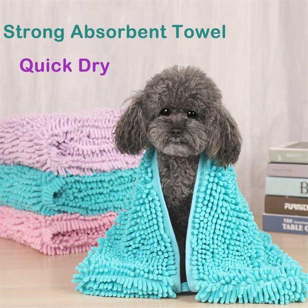 Fibra de baño de la preparación del animal doméstico Perro Toalla Albornoz gato fuerte manta de absorción de agua de Grande Medio Pequeño perro de secado rápido de la toalla