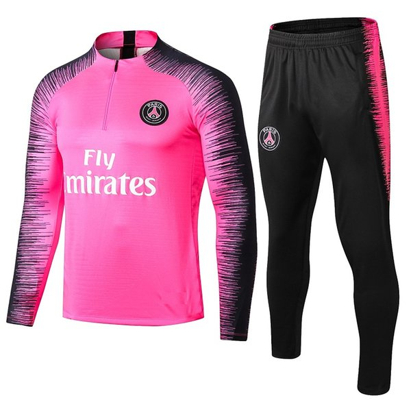 top 2018 2019 PSG tracksuit 18 19 Paris MBAPPE JR LUCAS psg long sleeve training suit Football jacket kit Training suit uniform chandal