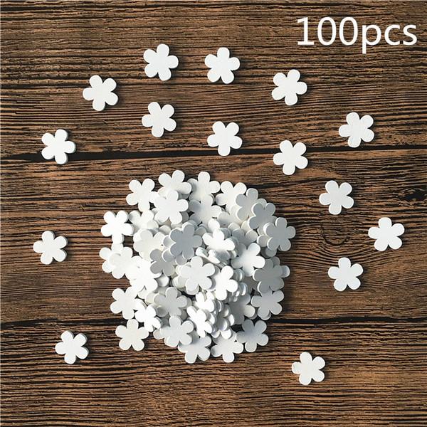 Новый Белый Вуд Неполное Шпон Ломтики Приукрашивания DIY ручной работы Crafts цветок / Heart Shape Главная Украшения