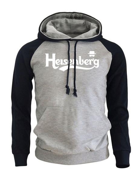 Lettre Imprimer Heisenberg Casual Vêtements de Sport Hommes 2019 Nouvelle Arrivée Sweat Automne Hiver Polaire Raglan À Capuche Fit Kpop Vêtements