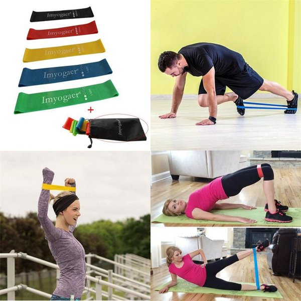 Pilates Resistance Bands Exercise Sport Elastic Rubber Power Band Latex Loop Pull Up Training Yoga Fitness Equipment New