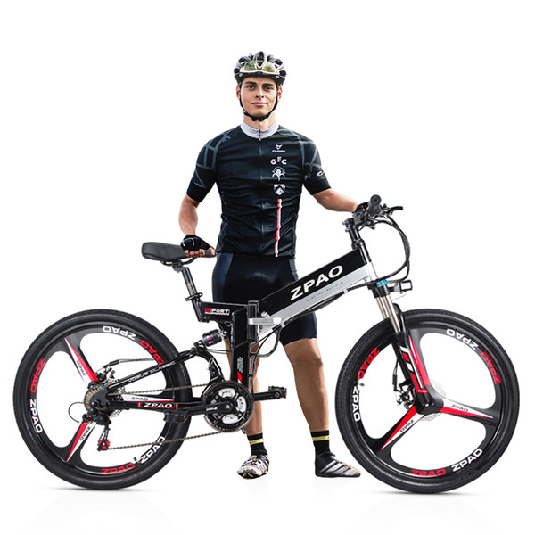 KB26 High Quality Folding Electric Bicycle, 26 Inch 350W Mountain Bike, 48V 10.4Ah Lithium Battery, 5 Grade Pedal Assist