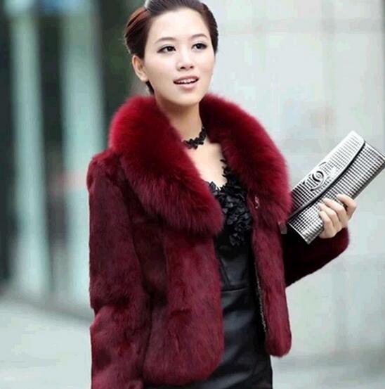 Nuove donne di abbigliamento cuciture caldo cappotto di pelliccia giacca calda multicolor Cappotti Capispalla