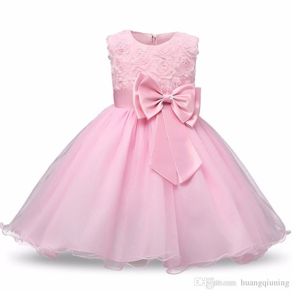 Princess Flower Girl Dress Summer Tutu Wedding Birthday Party Dresses For Girls Infant Girls Costume Newborn Baby Prom Designs Ball Gowns