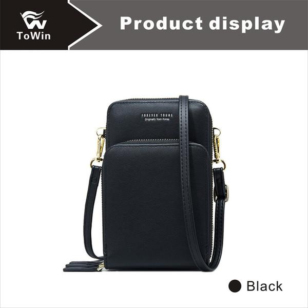 Messenger Bags Fashion Women Handbag Cell Phone Pocket Shoulder Bags Quality PU Leather Crossbody Bag Wallet Tote Purse 2019 Free Shipping
