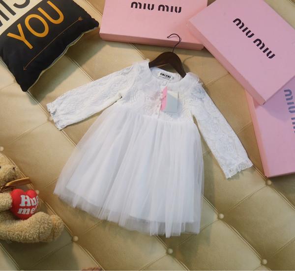 Filles vêtements de créateurs pour enfants 2019 nouvelles filles de malfaçons agrémentées de dentelle jupe en maille princesse robe de soirée