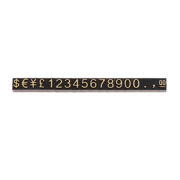 Price Tag Jewelry Shop Display Pentagon Plastic Number Adjustable Accessories Stand Frame Combined Digital Clothing Mounting Lab