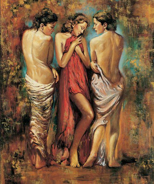 Igor Semeko - Heaven Home Decor dipinto a mano HD Stampa della pittura a olio su tela di canapa di arte della parete della tela di canapa Immagini 191207