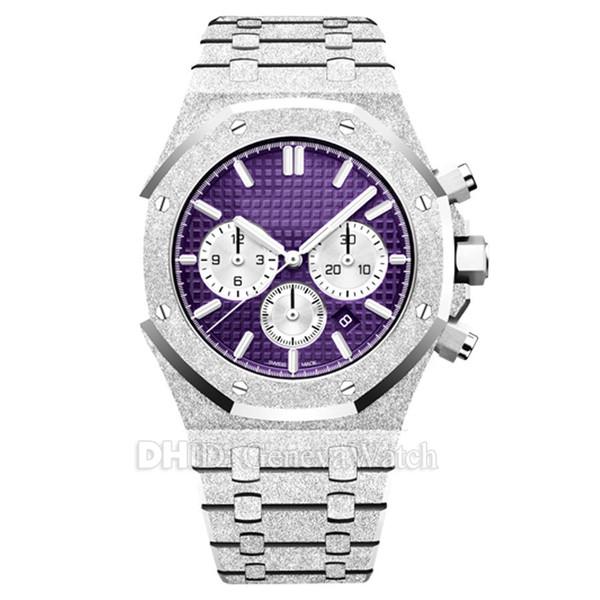 Luxury Mens Women Watches 26331BC.GG.1224BC.01 Chronograph Stopwatch VK Quartz Movement Man Watch Gold 42mm Steel Case montre de luxe