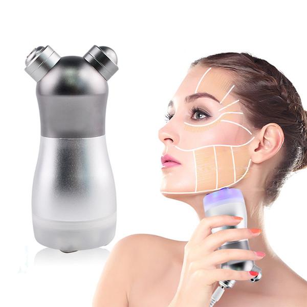 Fóton portátil Sem Dispositivo De Mesoterapia De Agulha Facial RF Máquina De Freqüência De Rádio Máquina De Emagrecimento Corpo Face Lift Remover Rugas Equipamento