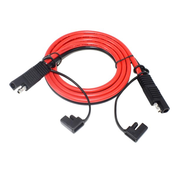 top popular SAE To SAE 2-pin 10 Amp 3ft 1m Solar Panel Extension Cable Cord, Heavy Duty 2021