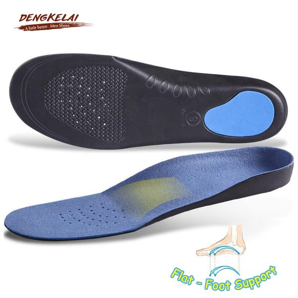 DENGKELAI 3 Pairs Arch Support Insoles for Men Shoes EVA Absorbant Flat-foot insoles