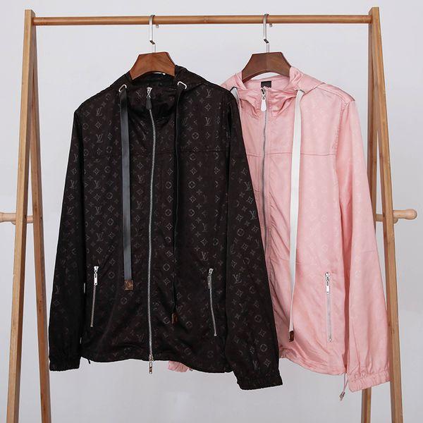 2019 Mens caldo di design di lusso giacche giacca a vento manica lunga windrunner uomini cerniera giacca impermeabile con cappuccio cappotti vestiti all'ingrosso