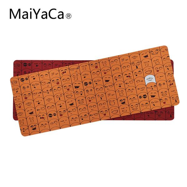 Коврики для мыши MaiYaCa Gamer Желтый и красный Персонализированные компьютерные коврики для мыши с ковриком для настольного компьютера Нескользящий край блокировки