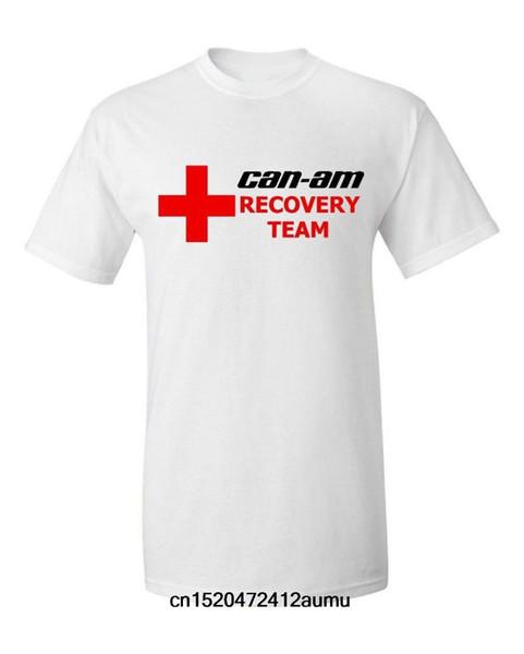 Can-am Mens Moda Casual T-shirt de Algodão Macio Tee Adulto Masculino Mangas Curtas Tops Vestuário