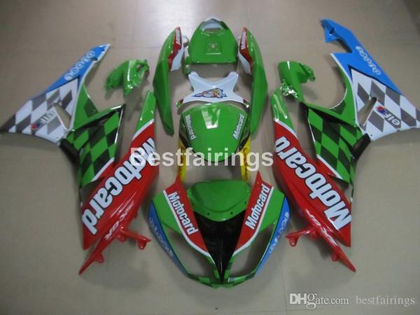 Aftermarket body parts fairing kit for Kawasaki Ninja ZX6R 2009 2010 2011 red green fairings kits ZX6R 09 10 GT31